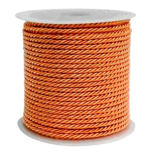 Πορτοκαλί Τρίκλωνο Κορδόνι 3mm x 50μ.