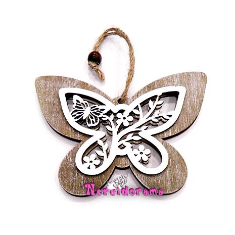 Ξύλινη σκαλιστή πεταλούδα μικρή
