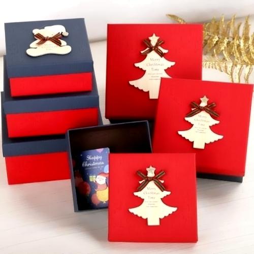 Χάρτινα τετράγωνα κουτιά δώρου πολυτελείας σέτ 3 τεμαχίων
