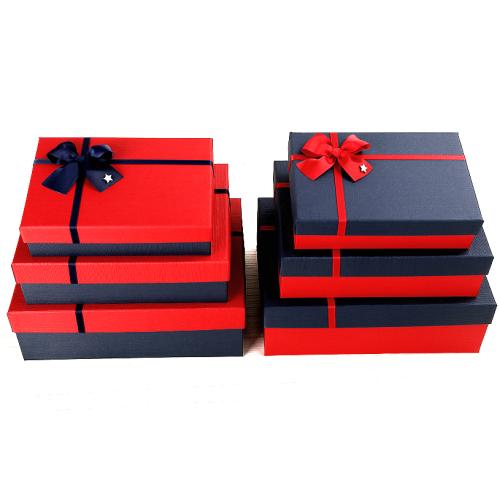 Χάρτινα παραλληλόγραμμα κουτιά δώρου πολυτελείας σέτ 3 τεμαχίων