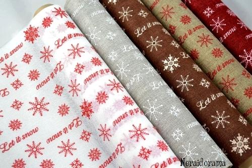Χριστουγεννιάτικο ύφασμα  Let it snow