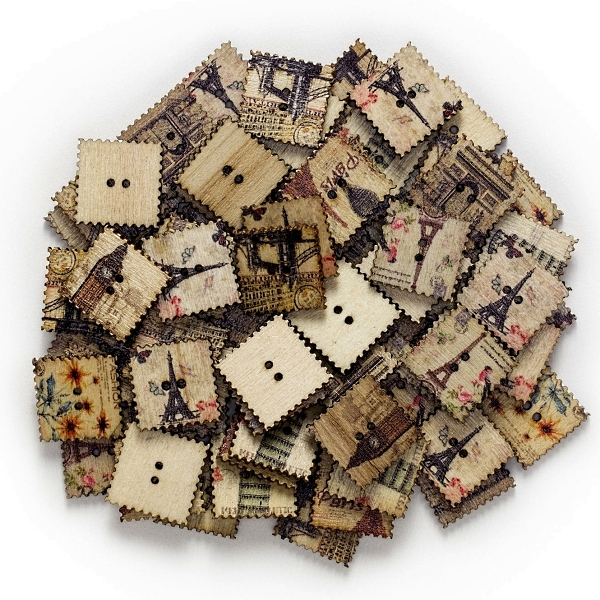 Vintage wooden buttons