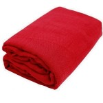 Red Gauze Fabric Bolt
