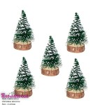 Snow mini trees for diorama 10cm 5 Pcs