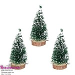 Snow  Christmas trees for diorama 15 -16 cm  5 Pcs
