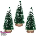 Snow mini trees for diorama 20cm 5 pcs