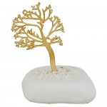 Wedding favor metal charm tree of life in stone