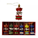 Christmas Carouzel Wooden Hanging Ornaments 21 x 9cm