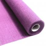 Lilac burlap fabric 55 cm x 5 meters