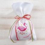 Πουγκί Με Flamingo Μπομπονιέρα Βάπτισης