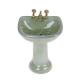 Dollhouse miniature green porcelain bathroom set toilet 1:12 5