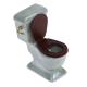 Dollhouse miniature green porcelain bathroom set toilet 1:12 6