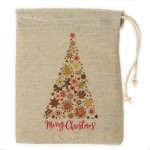 Christmas pouch pine tree 25 x 30 cm