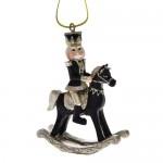 Μαύρος Καρυοθραύστης Σε Κουνιστό Άλογο 19Χ8Χ25εκ