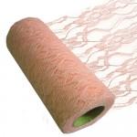 Lace fabric roll 30cm x 18m Salmon