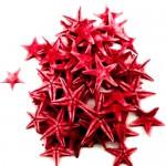 Κόκκινοι Φυσικοί Αστερίες 1-2εκ Συσκευασία 100 τεμ