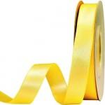 Κορδέλα  Σατέν Διπλής Όψης Κίτρινο 15mm x 50μ.