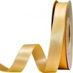 Κορδέλα  Σατέν Διπλής Όψης Χρυσό 15mm x 50μ.