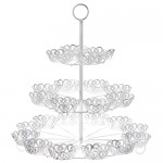 White metal 3 floor base tray for cupcakes