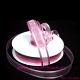 Κορδέλα οργάντζα με τελείωμα σατέν 1,5εκ. χ50μ.Ρόζ