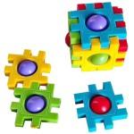 POP IT FIDGET Αντίστρες Με Φούσκες Τρίλιζα 4x4cm