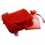 Red Organza Bags 15 x 21 cm  100pcs