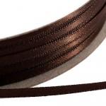 Kορδέλα Σατέν Διπλής Όψης 3 mm x 100μ Καφέ