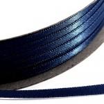 Kορδέλα Σατέν Διπλής Όψης 3 mm x 100μ Μπλέ Ναυτικό