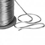 Silver Satin Rat tail Cord 2mm x 100m