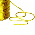 Yellow Satin Rat tail Cord 2mm x 100m