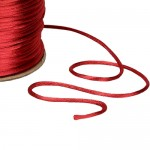 Red Satin Rat tail Cord 2mm x 100m