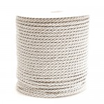 Ivory 3ply Polyester Cord 3mm x 50m