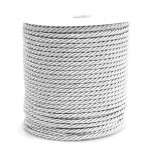 White 3ply Polyester Cord 3mm x 50m
