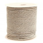 Beige 3ply Polyester Cord 3mm x 50m