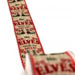 Christmas Ribbon Elves Do It  5.5cmX9m