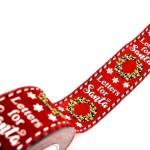 Christmas Ribbon Letters For Santa 5.5cmX9m