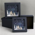 Χριστουγεννιάτικα κουτιά δώρου πολυτελείας σέτ 3 τεμαχίων 1