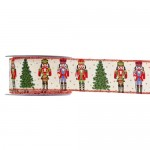 Christmas Ribbon Nutcracker Red 5.5cmX9m