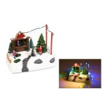 Χριστουγεννιάτικο Χωριό Με Φώς-Κίνηση 18εκ