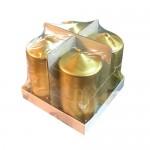 Χρυσά Κεριά Σετ 4 Τεμαχίων 10 x 5εκ