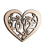 Wooden laser cut  heart
