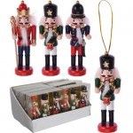 Wooden Christmas Nutcrackers set of 3pcs 12cm